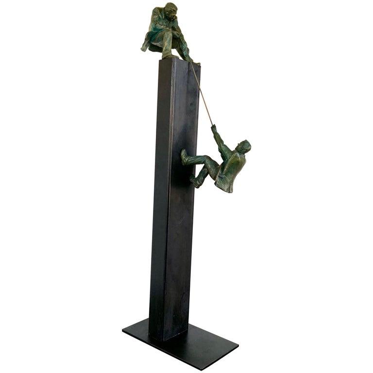 """""""Teamwork"""" Bronze Sculpture by Jim Rennert For Sale"""