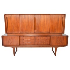 Tall Atomic Two-Tier Credenza in Teak