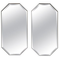 Industrial Chic Style Eros Octagonal Steel Mirrors with Plain or Antique Mirror