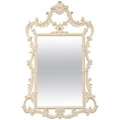 Vintage Carved Wood Mirror by Palladio