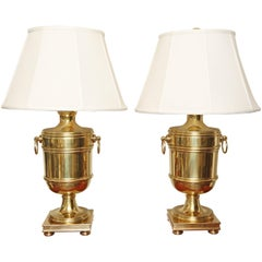 Pair of Vintage Ralph Lauren Brass Urn Style Lamps