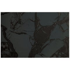 Levante Nero Monochromatic Marble Wallpaper with Dark Gray and Subtle Black Inks