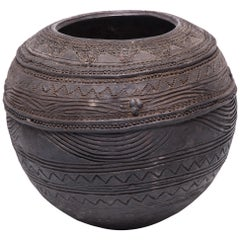 Nupe Carved Water Vessel