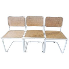 Cesca Chair by Marcel Breuer Set of Three, 1970s