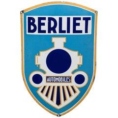 Vintage Enameled Advertising Sign Berliet