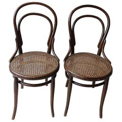 Pair of Thonet Bistro Chairs, 1920s