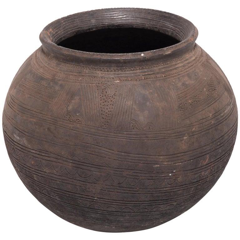 Igala Incised Water Vessel