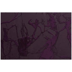 Levante Pressed Grape Monochromatic Marble Wallpaper with Shades of Purple Inks