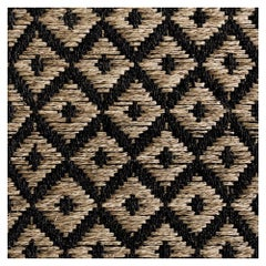 Colombian Crin Rugs, Handwoven Horsehai and Jute Diamonds