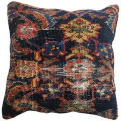 Navy Blue Persian Rug Pillow
