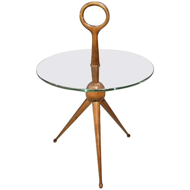 Sculptural Side or Drink Table Attributed to Cesare Lacca, 1950s For Sale