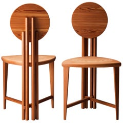 Circle-Back Chairs-In Stock, Contemporary Handmade Dining or Desk Chair