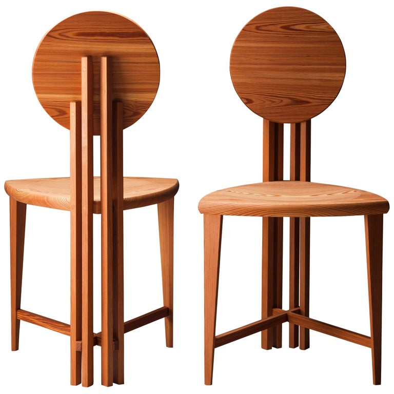 Circle-Back Chairs, Contemporary Handmade Dining, Desk, or Corner Chairs For Sale
