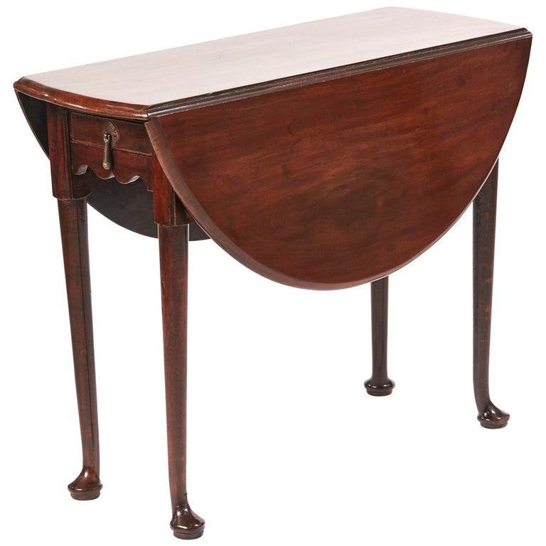 George III Mahogany Drop Leaf Dining Table
