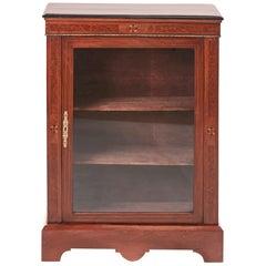 Victorian Walnut Inlaid Display Cabinet