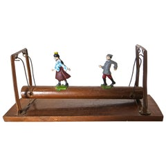 """Couple on a Log"" Toy,  French, circa 1930"
