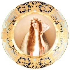 Royal Vienna Portrait Plate by Wagner 'B'