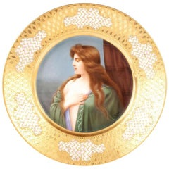 Royal Vienna Portrait Plate by Wagner 'D'
