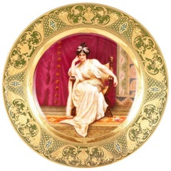 Royal Vienna Portrait Plate 'A'