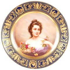 Royal Vienna Portrait Plate 'B'
