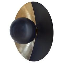 Metropolis Noir, Brass Sconce by Jan Garncarek
