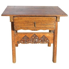 Early 19th Century Pine and Poplar Game Dressing Table from Spain