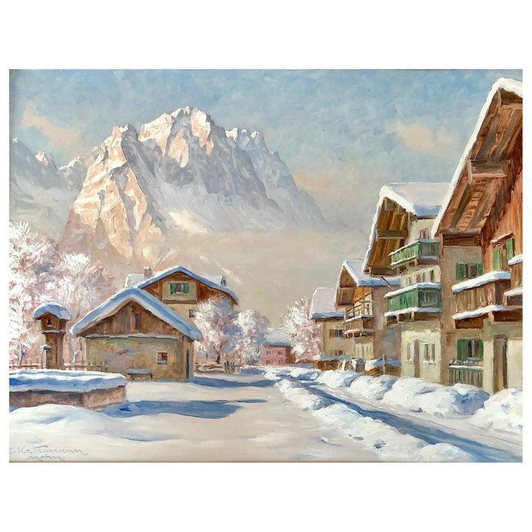"""Winter in Garmisch"" by Erwin Kettemann For Sale"