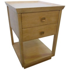 Paul Marra Two-Tier Nightstand in Rift Sawn Oak Natural Finish