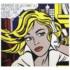 Roy Lichtenstein Vintage Pop Art Modern Silkscreen Print 'Art of the Sixties'
