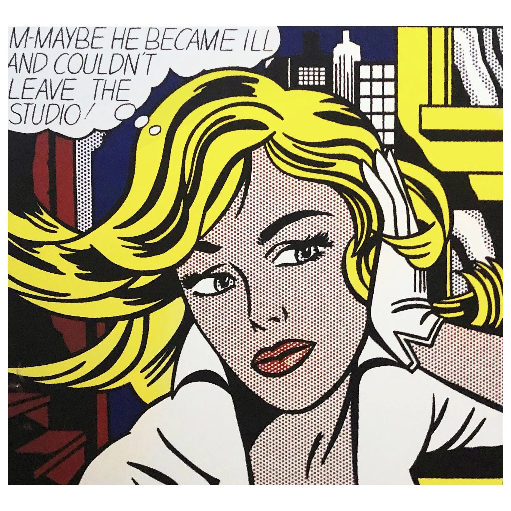 After Roy Lichtenstein, Pop Art Modern Print Art of the Sixties, Silkscreen