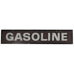 Double Sided Steel Gasoline Sign, circa 1940