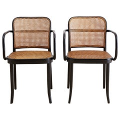 Josef Hoffman for Stendig Black Bentwood Prague Chairs