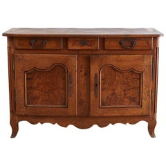 18th Century Louis XV Walnut Vaisselier Buffet Sideboard