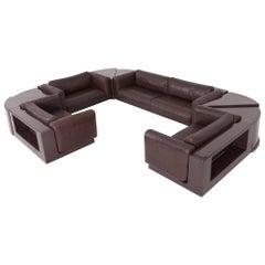 Cini Boeri Modular Sectional Sofa Set the Gradual Lounge for Gavina Knoll, 1970