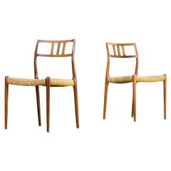 1960s Niels Otto Møller Model 79 Chairs for J.L Moller