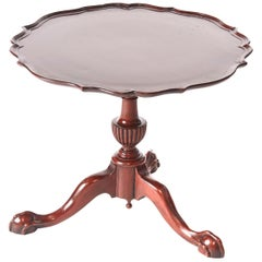 Mahogany Pie Crust Shaped Top Lamp Table