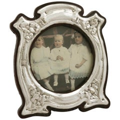 Sterling Silver Photograph Frame, Art Nouveau Style, Antique Edwardian