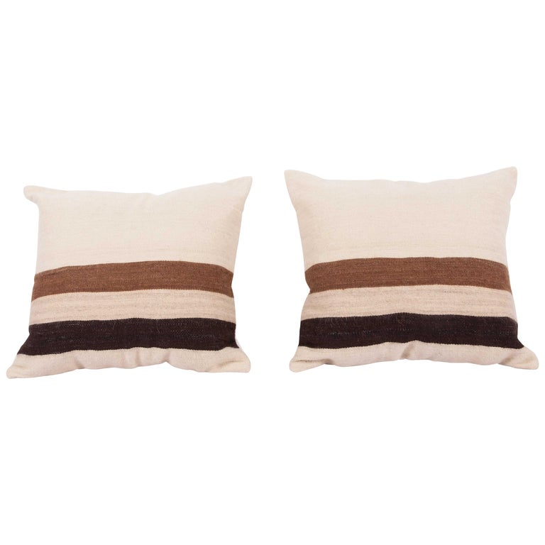 Pillow Cases Fashioned from a Mid-20th Century Anatolian Angora Siirt Blanket For Sale