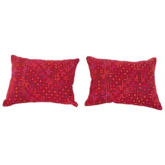 Pillow Cases or Cushions Made from a Middle Eastern Syrian Bedouin Embroidery