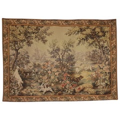 Beautiful Large Tapestry Rug Carpet, France, 19th Century