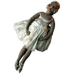 Scarce Early 20th Century French Ballerina Boudoir Doll, circa 1920-1930