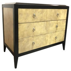 Jean Michel Frank Style Parchment Chest of Drawers Console Cabinet