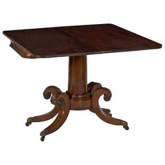 circa 19th Century American Classical Antique Card Game Table