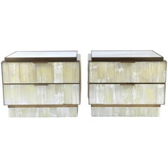 Pair of Stalactite Crystal Bedside Cabinets