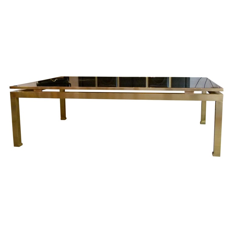 Brass Coffee Table by Guy Lefevre for Jansen, 1970