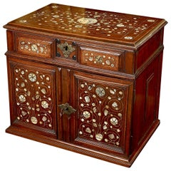 Walnut Table Cabinet, English, circa 1670