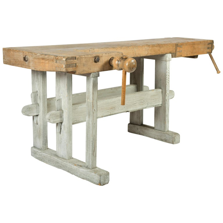 Early 20th Century Primitive Workbench For Sale