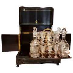 19th Century French, Napoleon III Cave à Liqueur/Tantalus