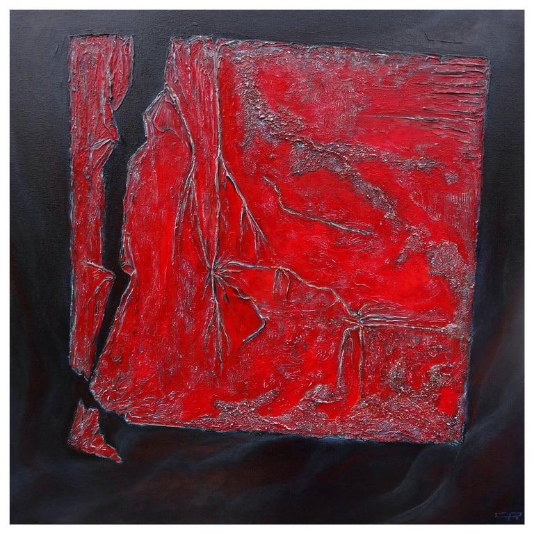 Cécile Roncier, Painting Red Clinamen, 2017