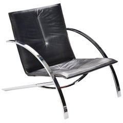 Paul Tuttle Arco Lounge Chair Strassle Switzerland, 1976